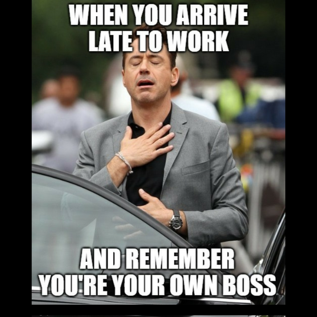 meme about being your own boss